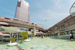 Bangkok city view of Siam Discovery and Siam paragon royalty free stock photo