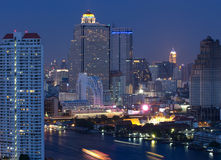 Bangkok cityscape. Modern building at twilight ,Thailand Stock Images