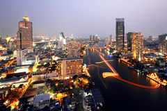 Bangkok cityscape Arkivfoto