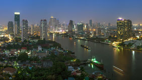 Bangkok cityscape. Bangkok river view Stock Photo