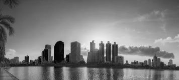 Bangkok cityscape black and white tone Stock Photo