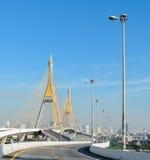 Bangkok cityscape with bridge Thailand Stock Image