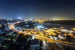 Bangkok cityscape. And Chaophraya River Royalty Free Stock Photo