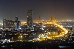 Bangkok cityscape. And Chaophraya River Stock Images