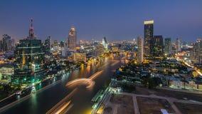 Bangkok cityscape. And Chaophraya River at night Stock Image