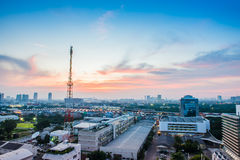 Bangkok cityscape with communication tower Royalty Free Stock Photography