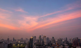 Cityscape in the dawn. Bangkok cityscape in the dawn Royalty Free Stock Photos