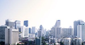 Bangkok cityscape of different office buildings and condos.  stock photography