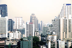 Bangkok cityscape with different skyscrapers and apartment houses Royalty Free Stock Images