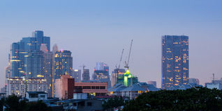 Bangkok Cityscape at dusk Royalty Free Stock Photography