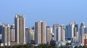 Bangkok cityscape in evening time Stock Photography