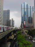 Bangkok cityscape från BTS Fotografering för Bildbyråer