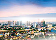 Bangkok Cityscape, High building at sunset Stock Photography