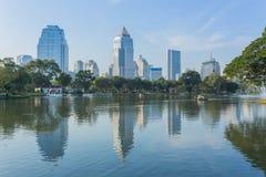 Bangkok Cityscape from Lumpini Park Stock Images