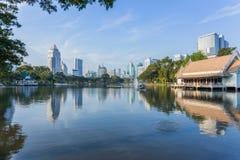 Bangkok Cityscape from Lumpini Park Stock Image