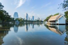 Bangkok Cityscape from Lumpini Park Stock Photography