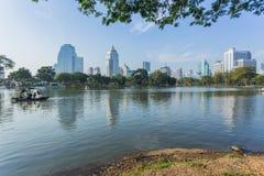 Bangkok Cityscape from Lumpini Park Royalty Free Stock Images