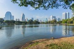 Bangkok Cityscape from Lumpini Park Royalty Free Stock Photo