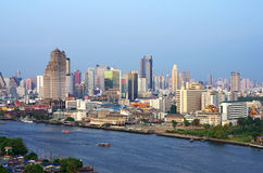 Bangkok cityscape Modern building. River side,Thailand Stock Images