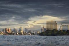 Bangkok cityscape Modern building river side Stock Photos