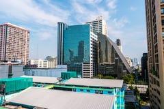 Bangkok cityscape with modern hi-tech buildings Royalty Free Stock Photography