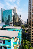 Bangkok cityscape with modern hi-tech buildings Royalty Free Stock Photo