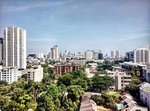 Bangkok cityscape. Morning in building on city thailand stock image