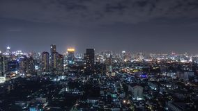 Bangkok cityscape at night Royalty Free Stock Photos