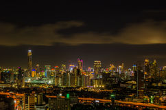 Bangkok cityscape at night Stock Photography