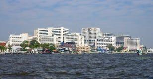 Bangkok cityscape river side at noon, thailand Stock Photography