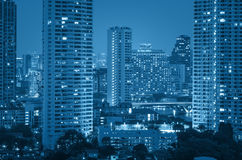 Bangkok cityscape river view at twilight time Stock Images