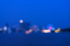Bangkok cityscape rivew view at twilight time, Blurred Photo bok Stock Photos