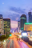 Bangkok cityscape and Sathorn Business District Stock Images