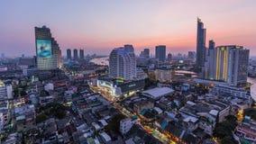 Bangkok Cityscape Time Lapse Dusk stock footage
