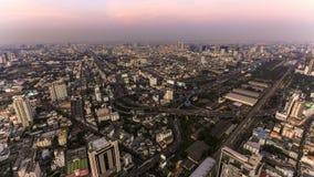 Bangkok Cityscape Time Lapse Dusk stock video footage