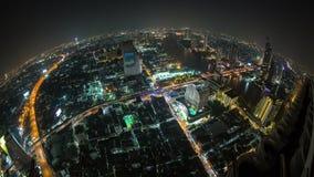 Bangkok Cityscape Time Lapse Fisheye stock video footage