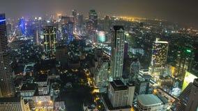Bangkok Cityscape Time Lapse Fisheye Zoom stock video