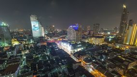 Bangkok Cityscape Time Lapse Panning stock video