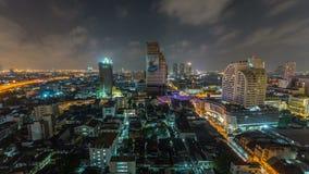 Bangkok Cityscape Time Lapse Panning stock video footage
