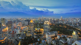 Bangkok Cityscape at twilight. Bangkok Cityscape from Vertigo Moon Bar (Bangkok, Thailand Royalty Free Stock Photography