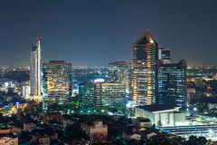 Bangkok Cityscape at twilight, Group of Building. (Thailand Stock Photos
