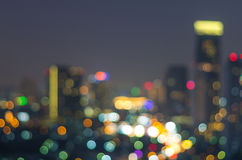 Bangkok cityscape at twilight time, Blurred Photo bokeh Stock Image