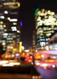 Bangkok cityscape at twilight time, Blurred Photo bokeh Stock Images