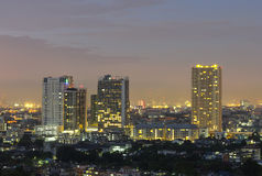 Bangkok cityscape at twilight time. Stock Photography