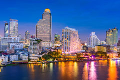 Bangkok, Cityscape van Thailand Stock Fotografie