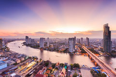 Bangkok Cityscape. View from high building Stock Photos