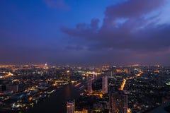 Bangkok crepuscular Foto de archivo libre de regalías