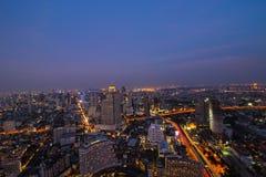 Bangkok crepuscular Imagen de archivo libre de regalías