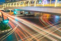 Bangkok cross road traffic Stock Photography