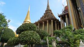 Bangkok découverte du Wat Phra Kaew, tempelkunglig person Arkivbild